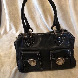 Black Marc Jacobs leather handbag.